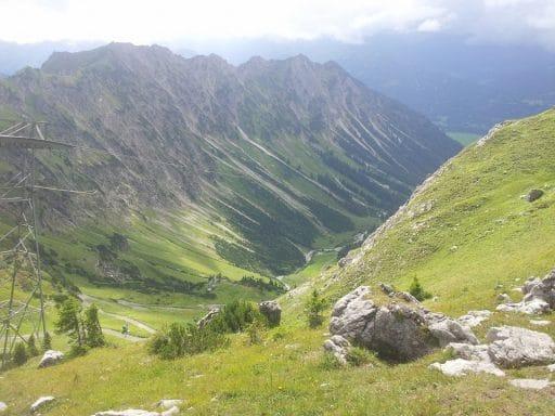 Knapp unter des Nebelhorns bei Oberstdorf lässt es sich gut wandern