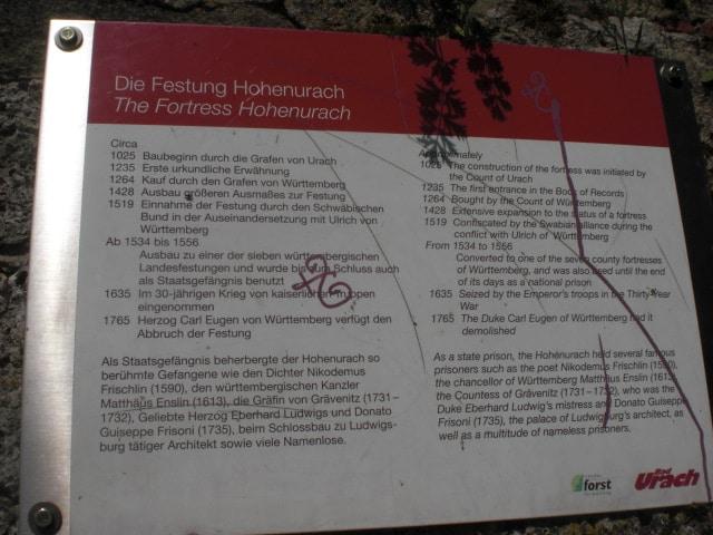 Die Burgruine Hohenurach ist ein Highlight auf der Schwäbischen Alb!