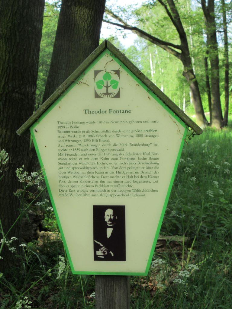 Auch Theodor Fontane hat den Spreewald gemocht und war oft hier!