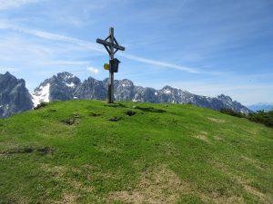 Das Gipfelkreuz vom Feldberg in Südtirol im Kaiserbachtal: Ziel erreicht!