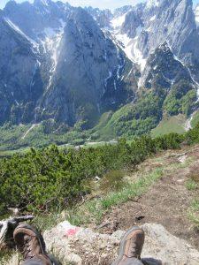 Tolle Aussichten beim Wandern vom Zahmen Kaiser auf den Wilden Kaiser. Fotografiert von der Feldberg-Spitze!