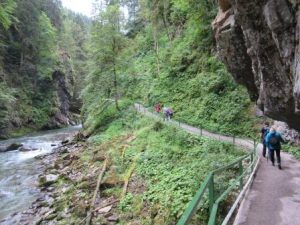 Das Wandern durch die Breitachklamm ist immer ein kleines Highlight für Urlaube im Allgäu!