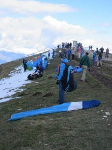 Paragiding statt Wandern auf dem Monte Baldo