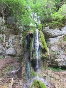 Bei der rund 20km langen Wanderung von Blumberg bis zur Schattenmühle darf man sich auch mal eine Abkühlung im Wasserfall gönnen, oder?