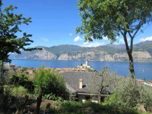 Eine tolle Aussicht beim Wandern auf Malcesine
