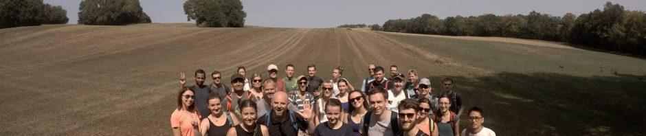 Unsere jungwandern.de Wandergruppe bei der Felsenrunde der Löwenpfade in Bad Überkingen!