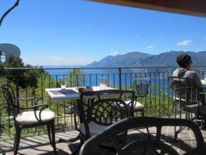 Die Locanda Monte Baldo lädt nicht nur während des Wandern um Verweilen ein