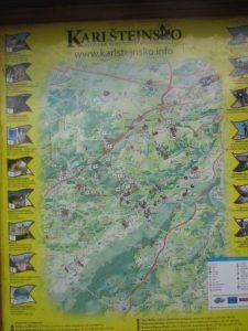 Tolle Karten und Übersichten erleichtern das Wandern an der Berounka elementar!