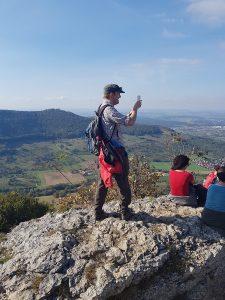Die Aussichten vom Breitenstein laden natürlich zum Selfie-Schießen ein und sind eine willkommene Abwechslung zum Wandern