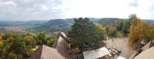 Auf die Burg Teck wandern auf der Schwäbischen Alb: Aussicht aus dem Turm!
