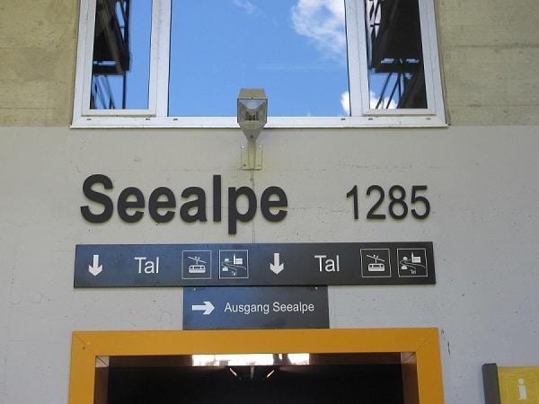 Die Station Seealpe ist eine Zwischenstation beim Wandern auf das Nebelhorn oder Bergbahn fahren