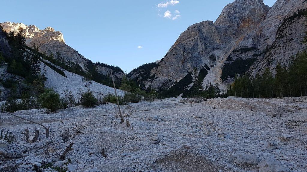 Eher unspektakulär: das südliche Ende des Bergsees!