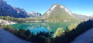 Toller Ausblick beim Wandern um den Lago die Braies!