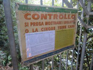 Wer durch die Cinque Terre wandern geht, hat einen Wegezoll zu entrichten!