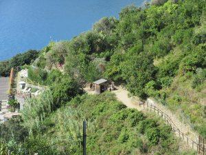 Es wird kontrolliert: ohne gültiges Ticket kein Wandern in der Cinque Terre!