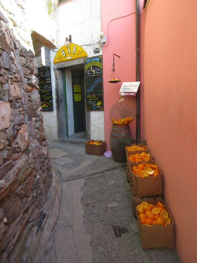 Lust auf frisch gepressten Orangensaft in der Cinque Terre?