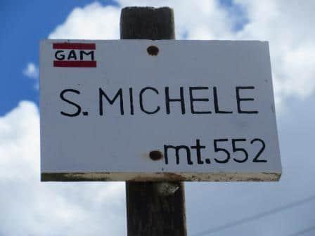 Der höchst gelegene Punkt, als wir um Malcesine wandern gewesen sind: der San Michele!