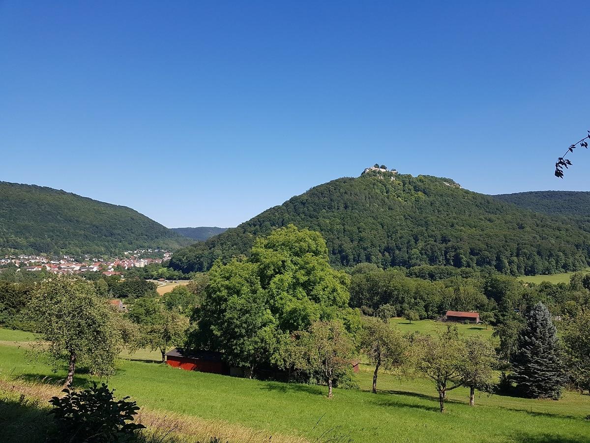 Nach fast 13km in Bad Urach wandern kommen wir langsam am Ziel an.