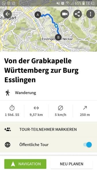 Über diesen Link erhaltet Ihr die Wegbeschreibung für die Wanderung von Untertürkheim zur Burg Esslingen!