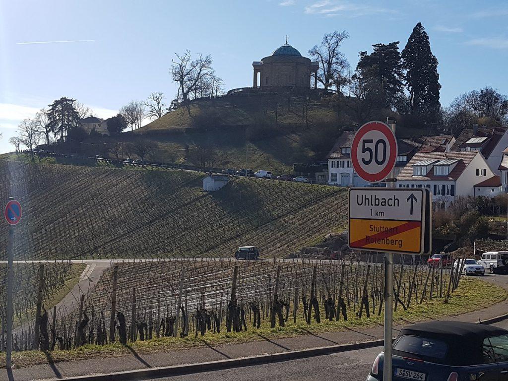 Ein Blick zurück und wir gehen weiter Richtung Burg Esslingen wandern!