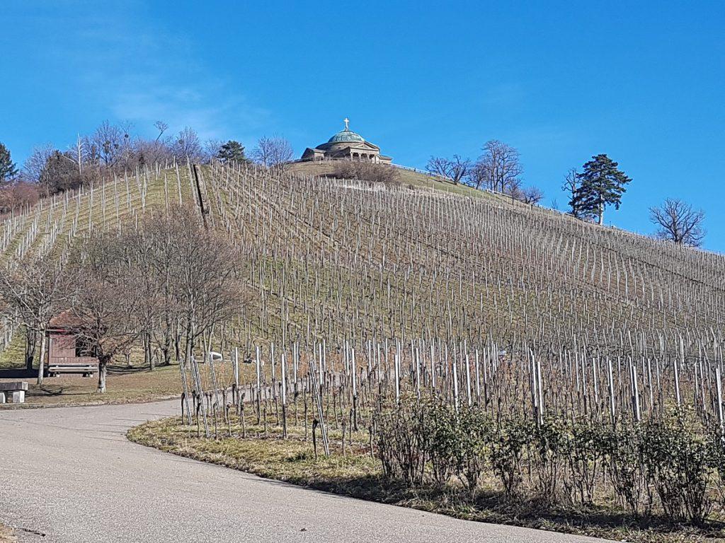 Wenn wir von Untertürkheim zur Burg Esslingen wandern, geht es erst einmal ein Stückchen hinauf!