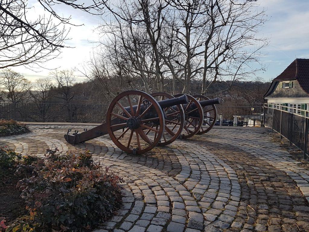 Mit Kanonen geschossen wird von der Burg Esslingen mittlerweile weniger als früher!