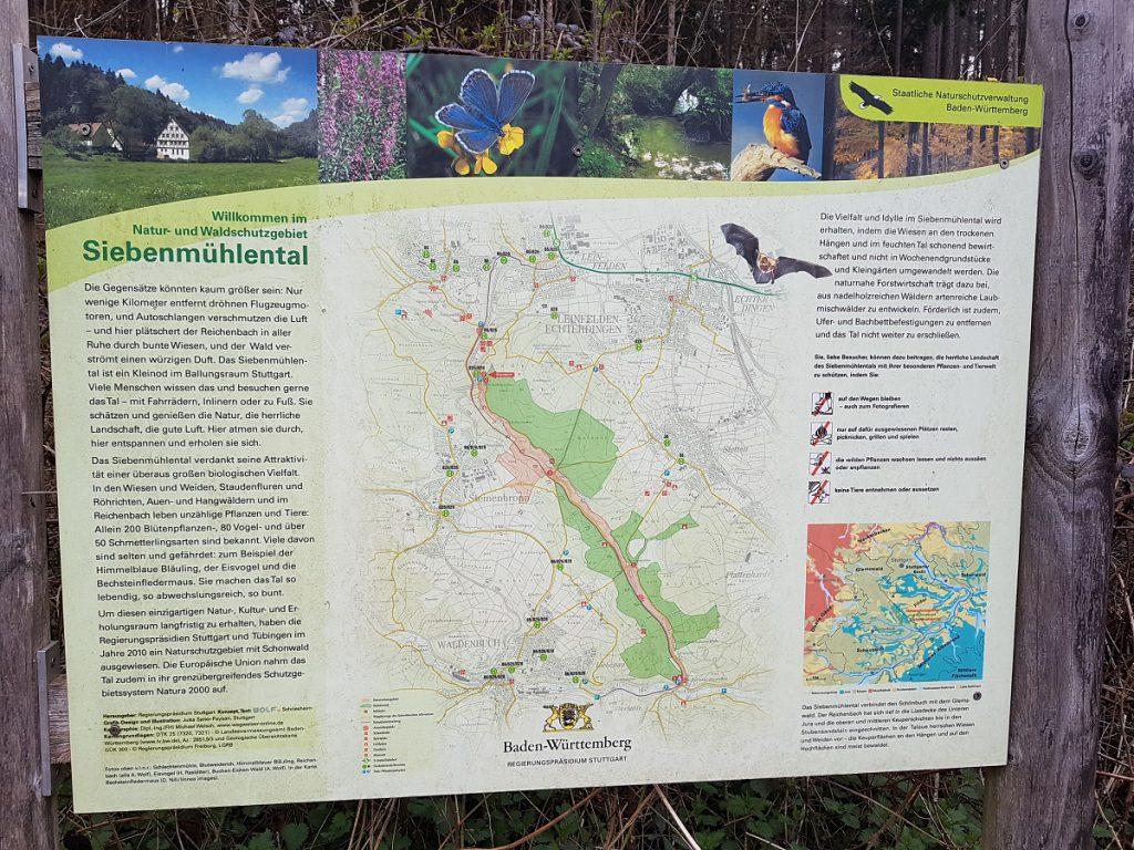Zahlreiche Erklärtafeln bringen uns beim Wandern durch das Siebenmühlental Natur und natürlich auch die zahlreichen Mühlen näher!