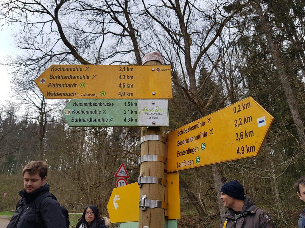 Eine Mühle nach der anderen beim Wandern im Siebenmühlental Richtung Waldenbuch!