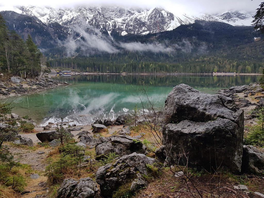 Eibsee Fels Wasser Berge