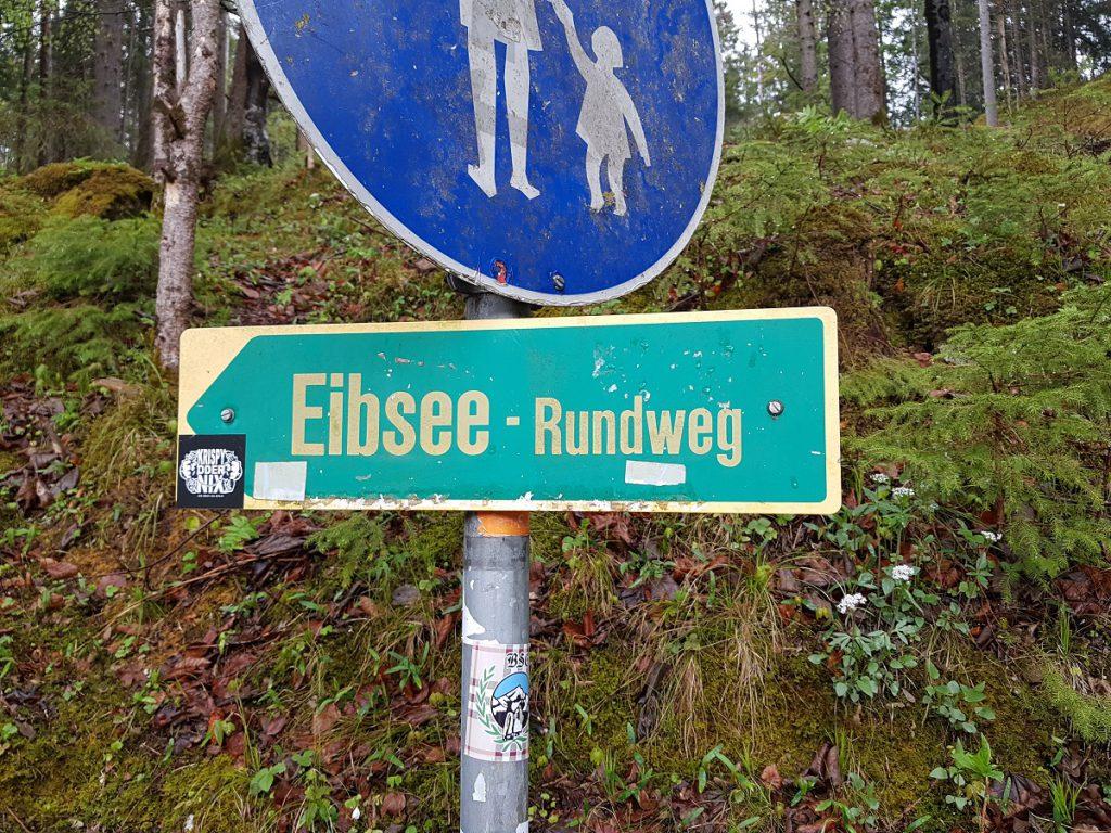 Eibsee Rundweg Schild