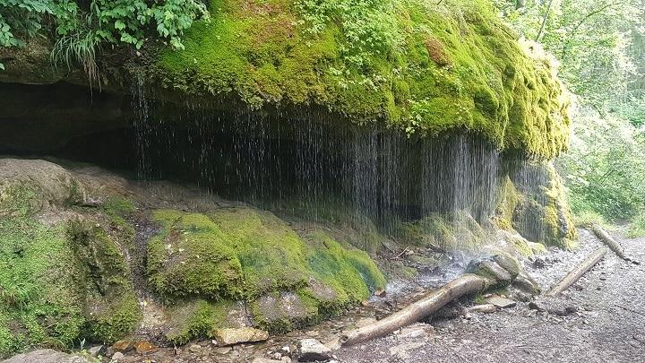 Natural Shower in der Wutachschlucht