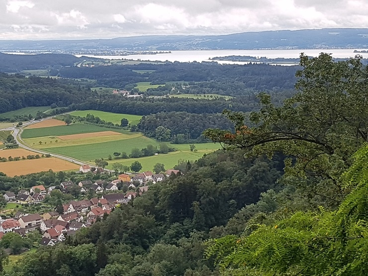 Blick auf den südlichen Bodensee