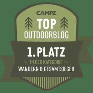 Auszeichnung zum besten Outdoorblog und Sieger
