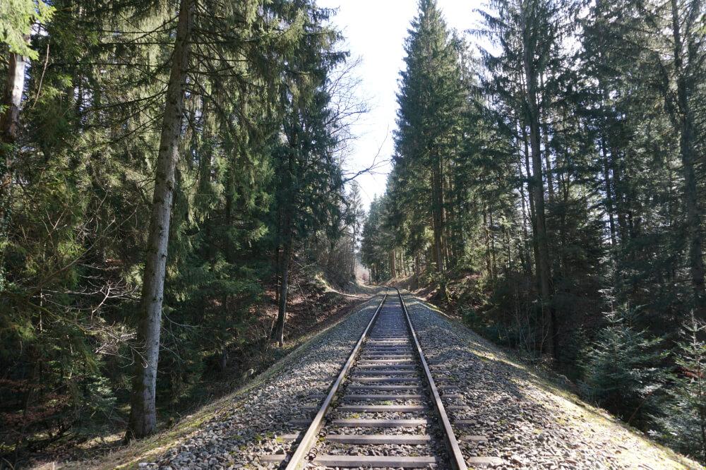 Gleise der Schwäbischen Waldbahn