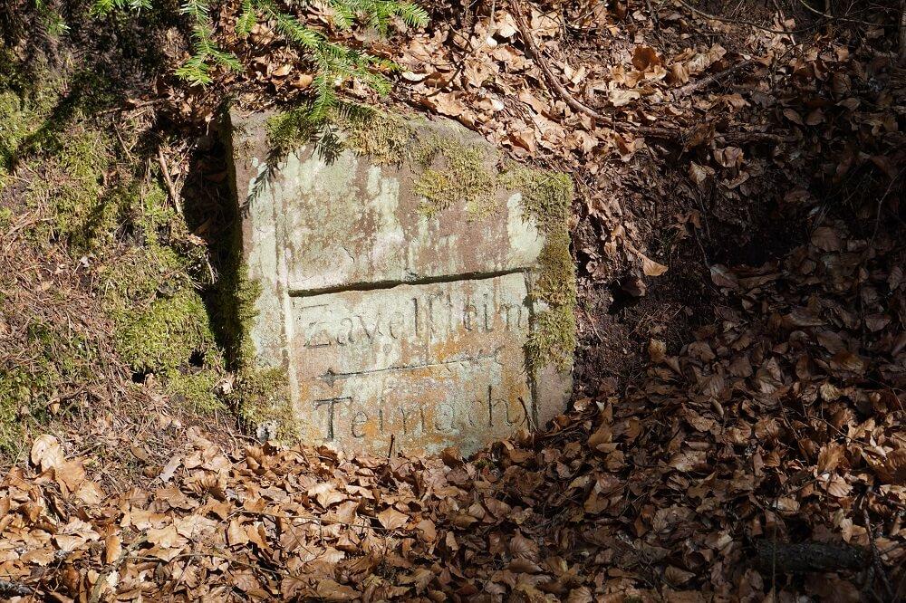 Alte Wegmarkierung Zavelstein Teinach