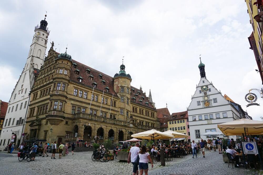 Alte Häuser in Innenstadt von Rothenburg