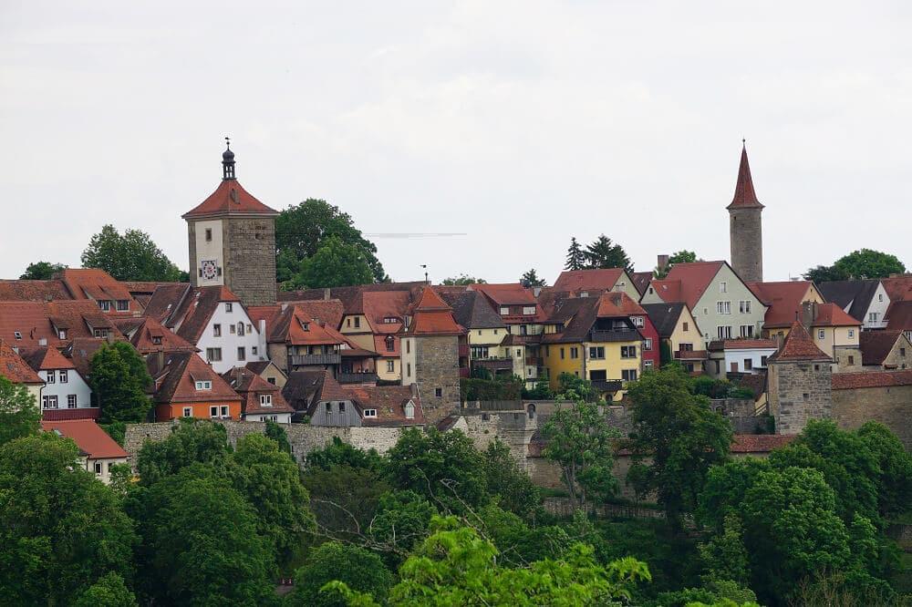 Aussicht auf Dächer von Rothenburg