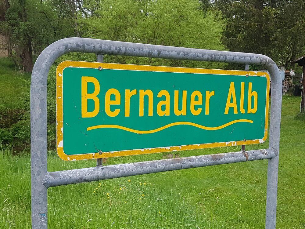 Hinweisschilder Bernauer Alb