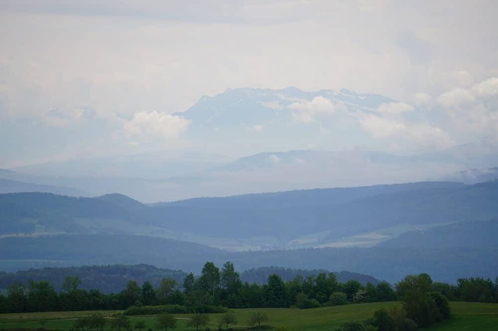 Bergkulisse der Alpen