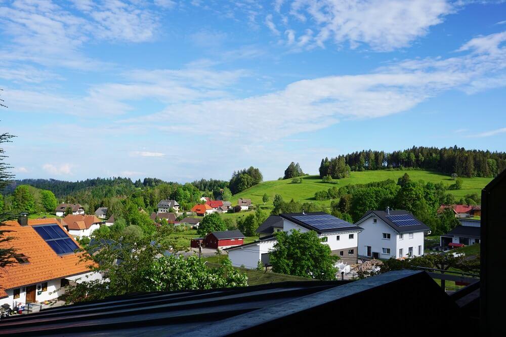 Grüne Wiesen Blauer Himmel Wittenschwand