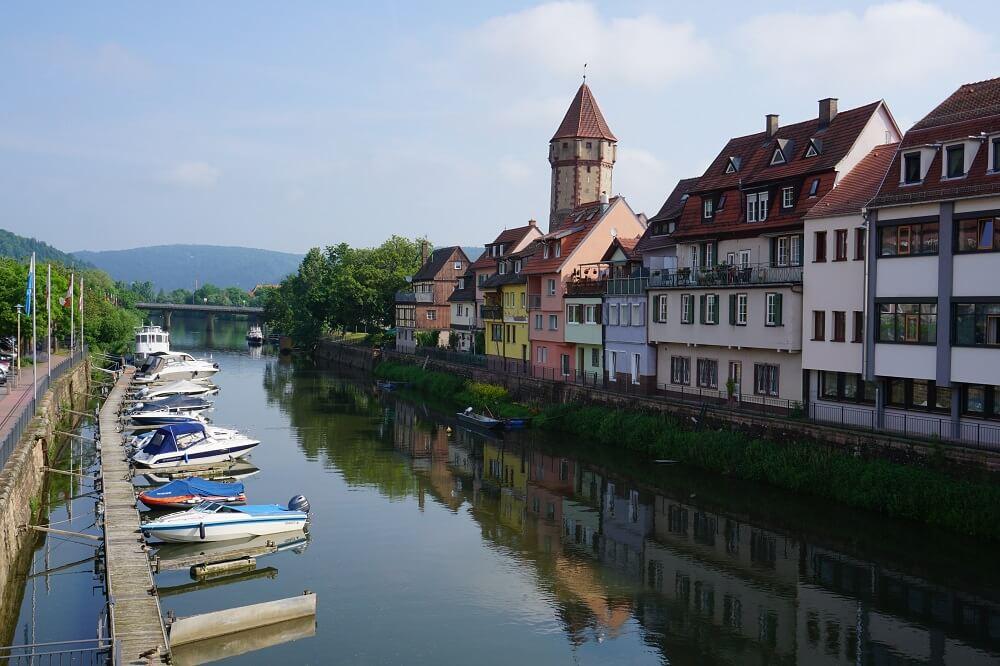 Wertheim Sicht über den Main