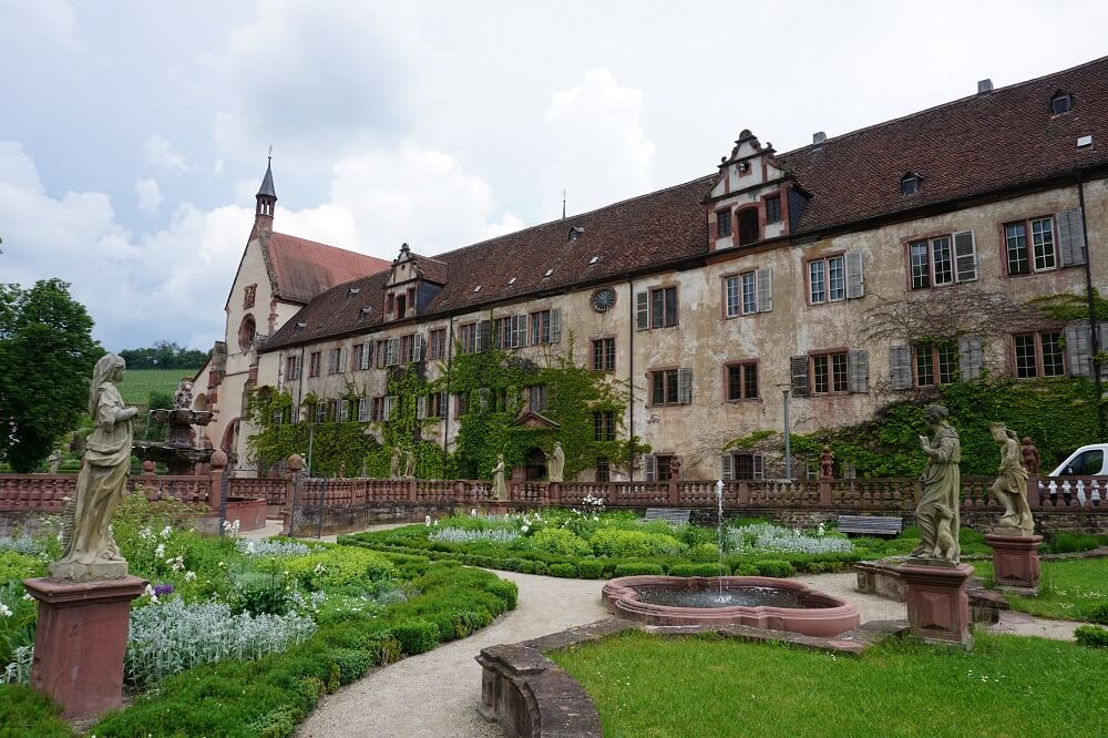 Garten vom Kloster Bronnbach