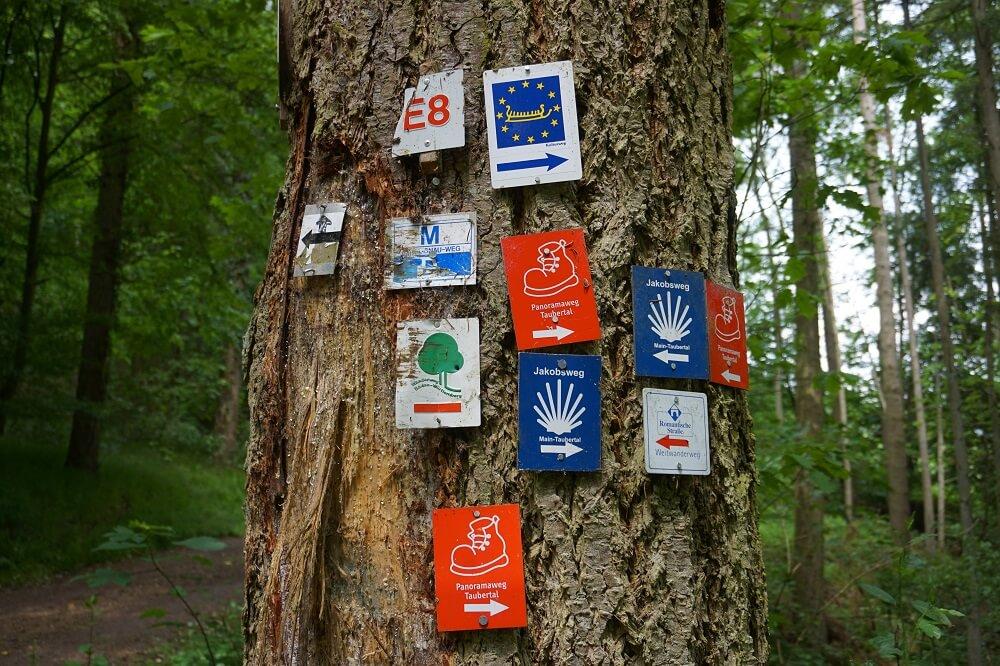 Wegmarkierungen Wanderwege Tauberbischofsheim