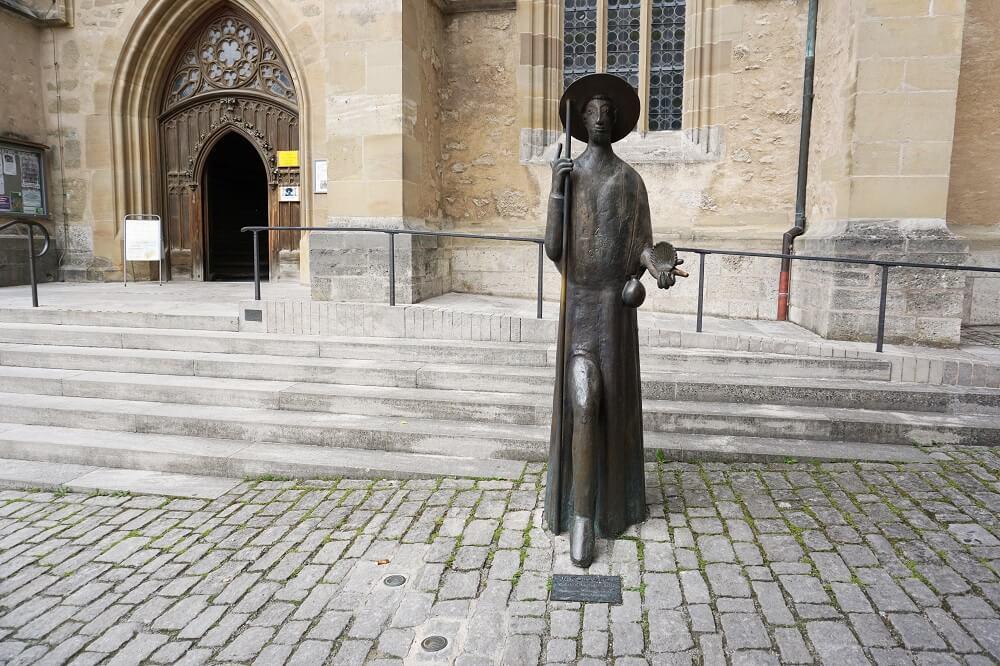 Eingang Kirche Rothenburg ob der Tauber