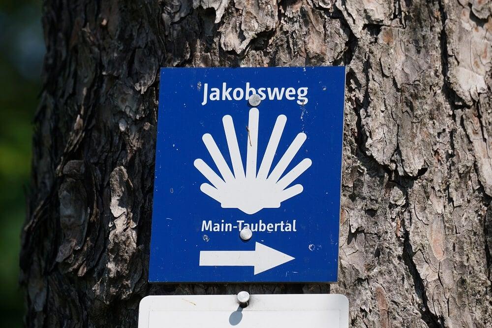 Jakobsweg Main-Taubertal Markierung